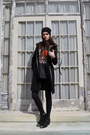 Pamela-love-x-nine-west-boots-balenciaga-coat-theyskens-theory-bag