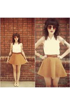 American Apparel skirt - vintage shoes - vintage sunglasses