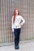 Forever 21 blouse - H&M leggings - Victorias Secret bra
