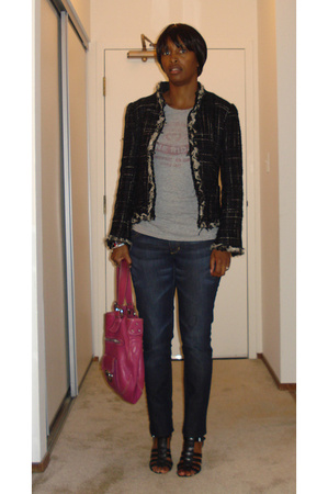 Zara jacket - vintage t-shirt - H&amp;M jeans - Nine West shoes