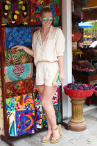 Mango sunglasses - H&M suit - Zara heels
