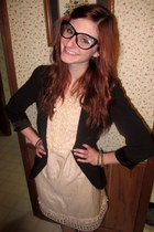 proopticals glasses - Little Deer Vintage dress - Urban Outfitters blazer