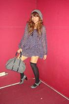 ANAP dress - thrifted hat - christian dior purse - ABAB socks - ABAB shoes