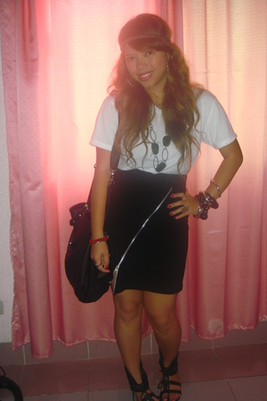 F&H shirt - SM Dept Store skirt - Forever21 accessories - from Tokyo purse