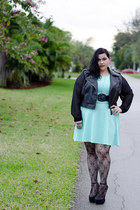 black Deb Shops jacket - aquamarine mint dress Deb Shops dress