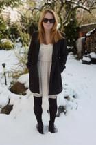 Zara dress - shoes - Zara coat - tights