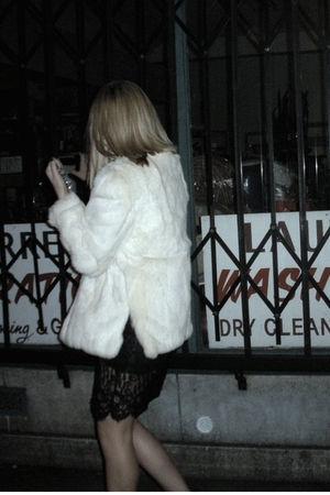 vintage dress - vintage coat