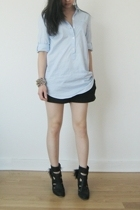 Jcrew shirt - APC shorts - LD Tuttle boots - Tom Binns bracelet