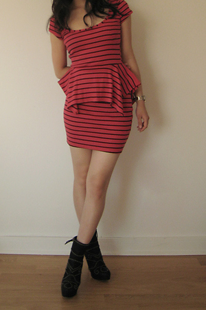 Topshop dress - Miu Miu boots