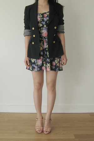 BCBG blazer - Topshop shorts - Marc by Marc Jacobs shoes