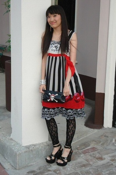 Anna Sui dress - Steve Madden purse - Claires tights - Latinas shoes