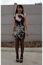 iron fist shirt - shirt - Qupid shoes - makemechic tights