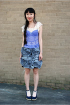 periwinkle Palais Royal intimate - Charlotte Russe top - asos skirt - volatile w