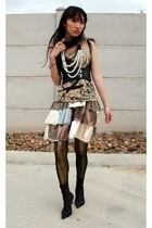 579 belt - tights - tights - gianni bini shoes - DIY shirt - Secondhand skirt