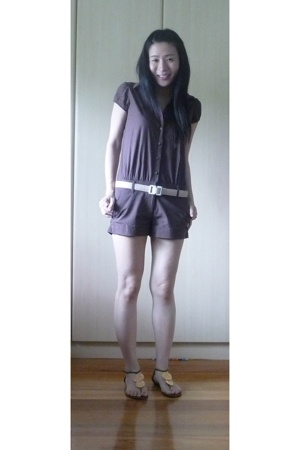 Mphosis overalls shorts - Silly Me clothing belt - Dolce Vita flats shoes