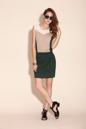 olive green cotton koees dress