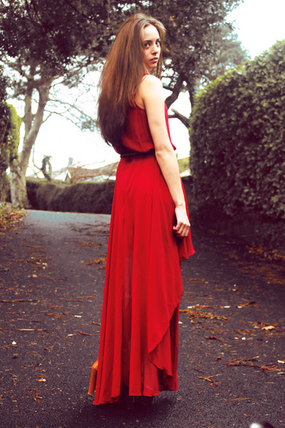 ruby red maxi Love dress