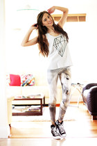 off white lovely sally leggings - black Converse sneakers