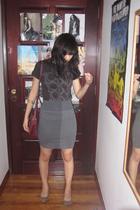 Urban Outfitters t-shirt - American Apparel skirt - Miu Miu purse - somewhere in