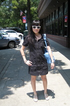 SuperSocial for Pixie Market dress - made by elves shoes - balenciaga purse - kn