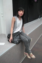 Target vest - American Apparel jeans - Maud shoes - balenciaga purse