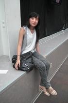 Target vest - American Apparel jeans - Maud shoes - balenciaga purse