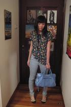 Kokon to Zai shirt - Topshop jeans - balenciaga purse - random store in tokyo sh