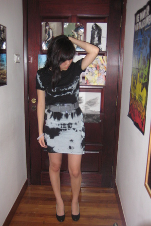 Topshop dress - no brand belt - PedderRed shoes - H&amp;M