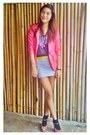 Hot-pink-doll-forever-21-shoes-periwinkle-used-as-skirt-topshop-dress