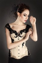 eggshell corsett V-Couture top
