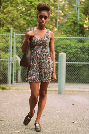 Chanel Loafers shoes - Urban Outfitters dress - H&M bag