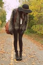 faux fur H&M coat - shires Jeffrey Campbell shoes