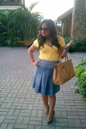 Penshoppe shirt - skirt - Juan shoes