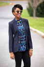 Navy-urban-outfitters-blazer-heather-gray-super-sunglasses