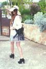 Mango-boots-arafeel-dress-h-m-hat-vintage-blazer-topshop-bag-lanvin-fo