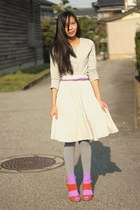 heather gray We Love Colors tights - amethyst We Love Colors socks - silver Down