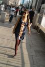 Blue-miss-selfridge-dress-brown-h-m-tights-h-m-bag-h-m-shoes