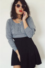 Vintage-skirt-american-apparel-sweatshirt