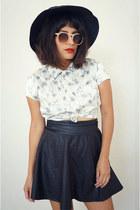 floral satin vintage blouse