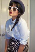 jp blouse - vintage skirt