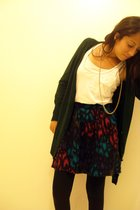 Frenchi shirt - skirt - Forever21 leggings - Forever21 jacket