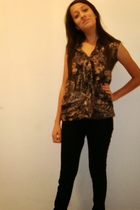 Urban Outfitters blouse - random brand pants - Steve Madden shoes
