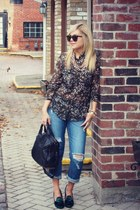 Zara shirt - Tommy Hilfiger shoes - f21 jeans - Alexander Wang bag