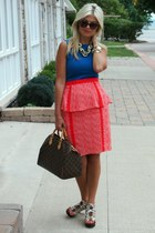 plenty by tracy reece skirt - LV bag - Gucci sunglasses - Hbc necklace