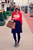Jcrew sweater - Target boots - Joe Fresh tights - Prada bag