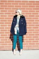 Zara shoes - Express coat - Gucci sunglasses - Joe Fresh blouse