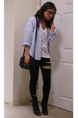 vintage shirt - UO shirt - David Lerner leggings - Dolce Vita shoes