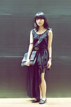 Charles & Keith purse - black asymmetrical skirt
