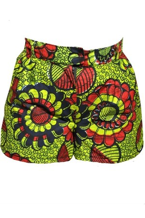 green handmade shorts