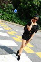 black suade Topshop heels